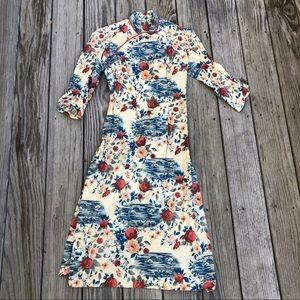 Vintage 60's cotton Chinese cheongsam tunic dress